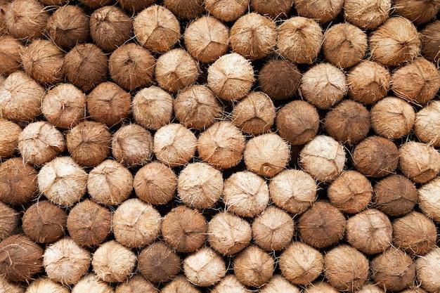 Kokosnusshaufen