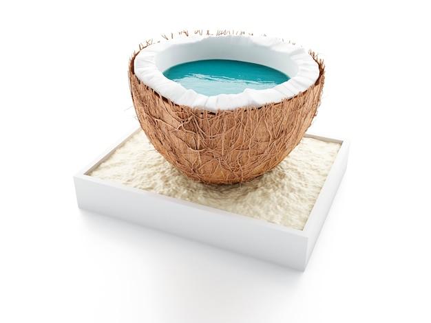 Kokosnussparadies. sommer-konzept