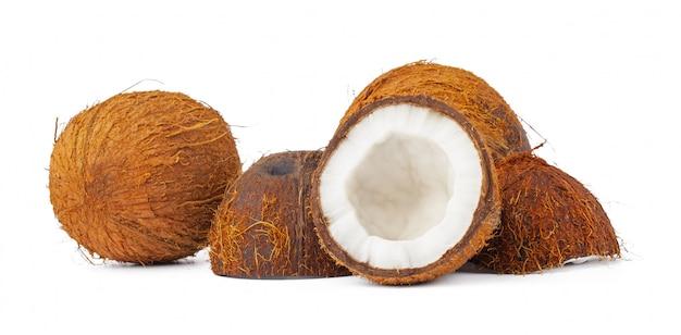 Kokosnussstücke haufen