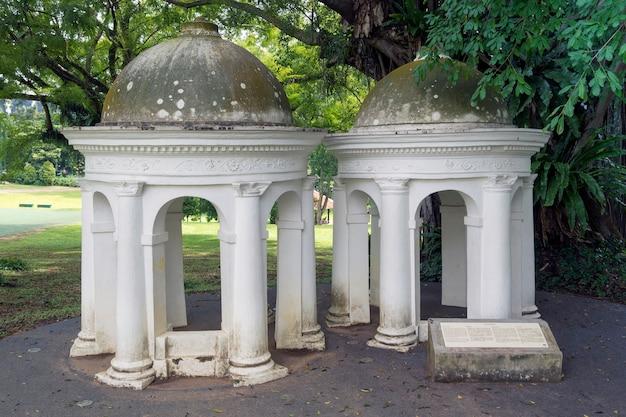 Kolonialarchitektur im fort canning park in singapur