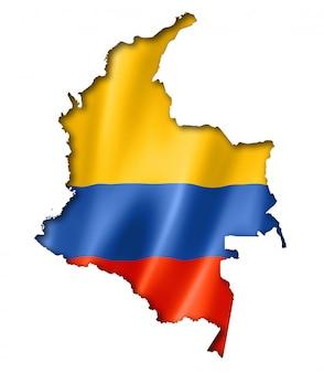 Kolumbianische flagge karte