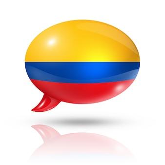 Kolumbianische flagge sprechblase