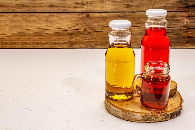 Kombucha in glasflaschen