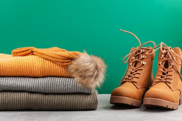 Komfortables warmes outfit für kaltes wetter