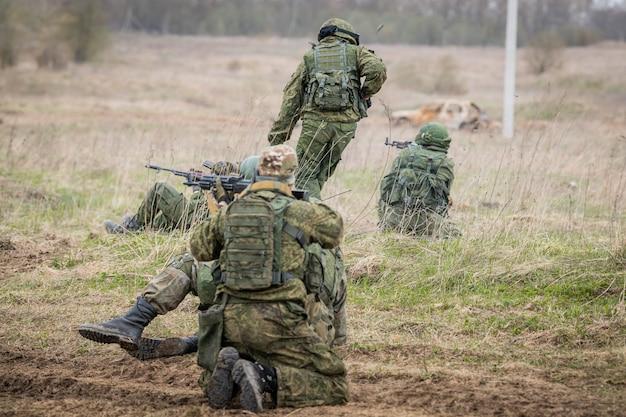 Kommandopostenübung zur terrorismusbekämpfung, russland.
