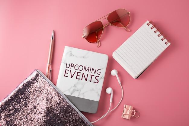 Kommende events mit pinkfarbenen modeaccessoires