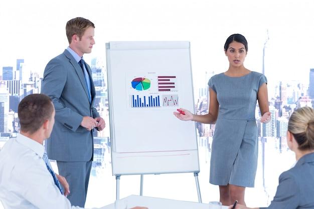 Kommunikation brainstorming geschäftsanzug