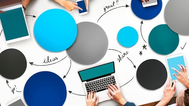 Kommunikation schließen internet-multimedia-konzept an