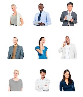 Kommunikationstechnologie-konzept der verschiedenen leute globales