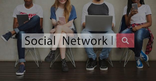 Kommunikationsverbindung-symbol der sozialnetz-verbindung