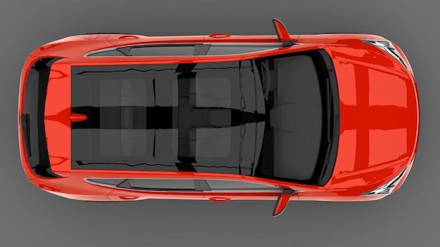 Kompaktes city-crossover-rot-auto