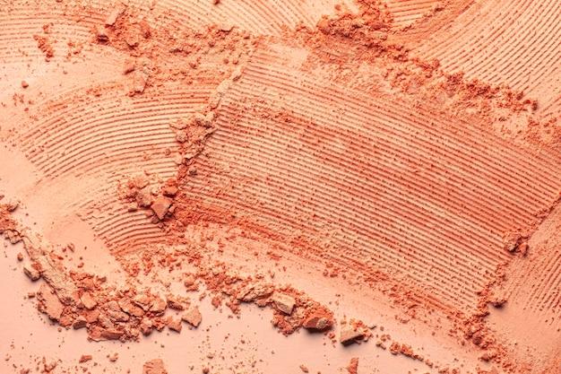 Kompaktes gepresstes beige pulver