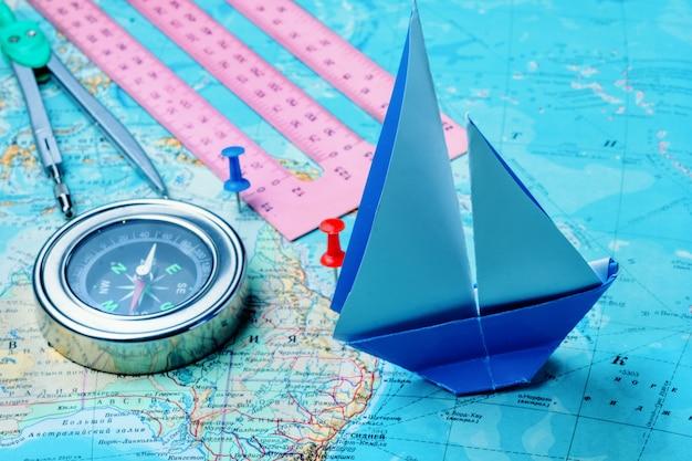 Kompass auf der karte