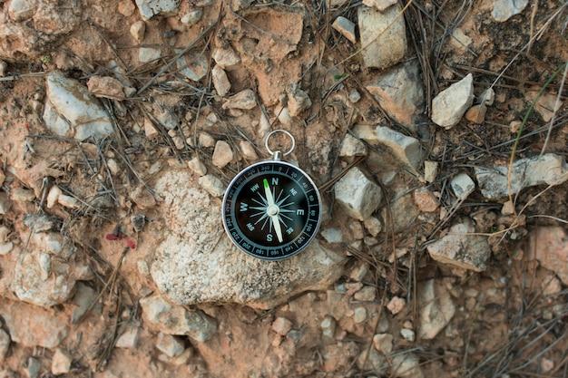 Kompass in den bergen