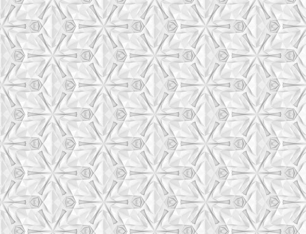 Komplexe volumetrische nahtlose muster-3d-illustration
