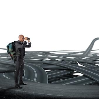 Komplizierte entscheidung über die berufliche zukunft des geschäfts
