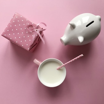 Komposition mit einem sparschwein