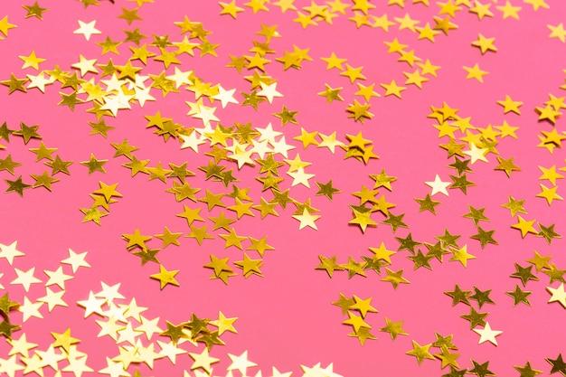 Konfetti mit sternen hintergrund