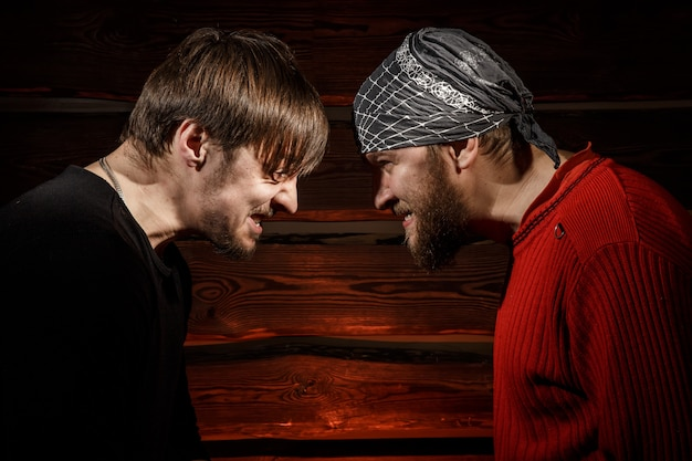 Konfrontation. konzeptionelle bild.