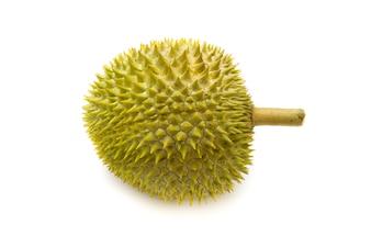 König der Früchte. Durian isoliert auf weißem Hintergrund. beliebteste in thailand