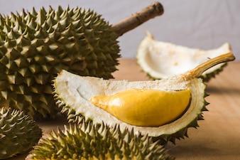 König der Früchte, Durian ist eine populäre tropische Frucht in den asiatischen Ländern.
