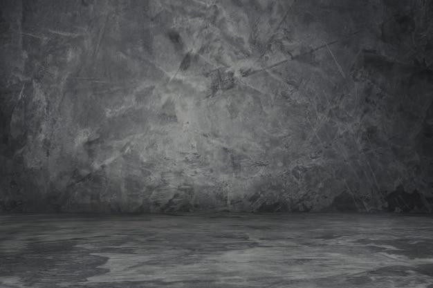 Konkreter grauer farbhintergrund der weinlesewand und -fußbodens