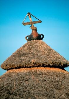 Konso tribal hütte im dorf dara