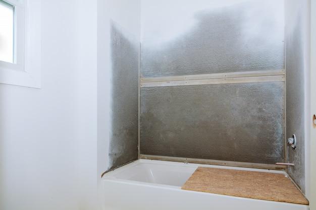 Konstruktion: umbau einer badezimmerinstallation
