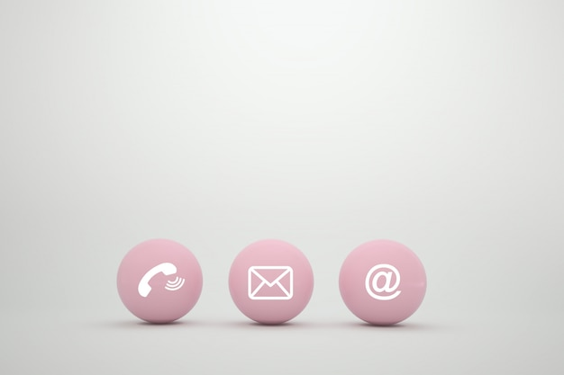 Kontakt methodenkonzept auf website-seite oder e-mail-marketing.