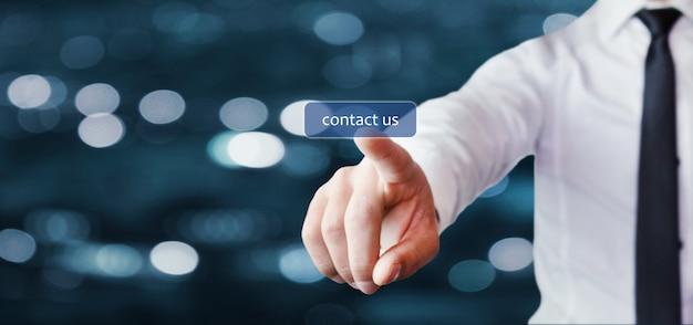 Kontaktieren sie uns konzept