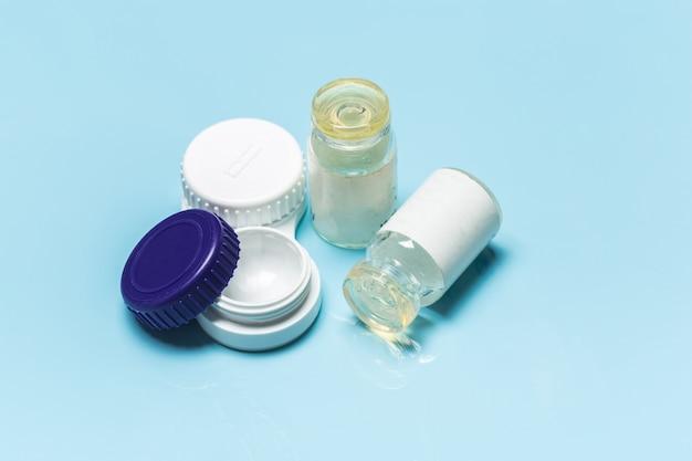 Kontaktlinsen, kontaktlinsenbehälter, pinzette