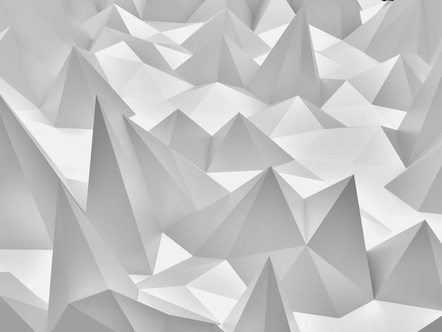 Konzept abstrakter heller hintergrund mit geometrischem polygon. 3d-rendering