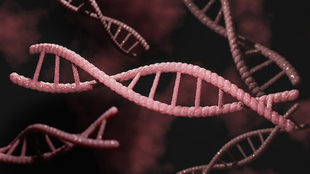 Konzept der biochemie mit dna-molekül.