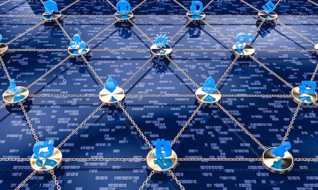 Konzept der blockchain