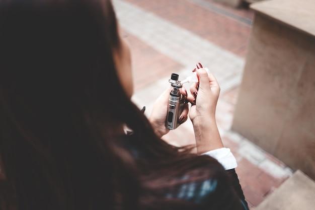Konzept der elektronischen zigarette