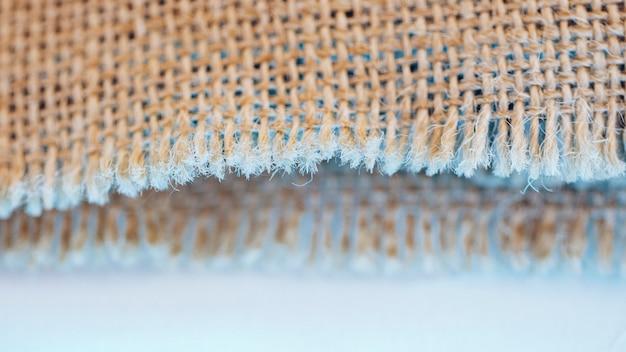 Konzept der fasern des sackleinenmaterials