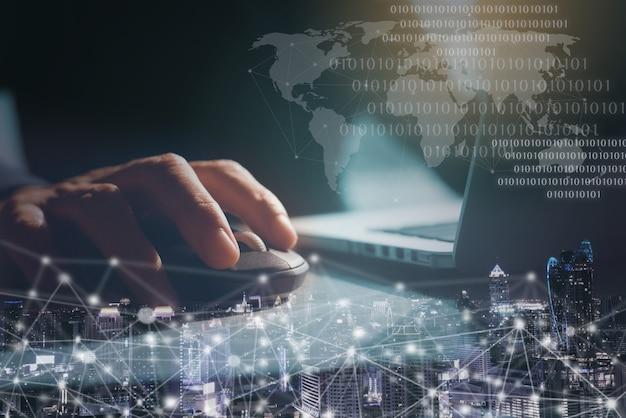 Konzept der globalen netzwerk-internet-technologie