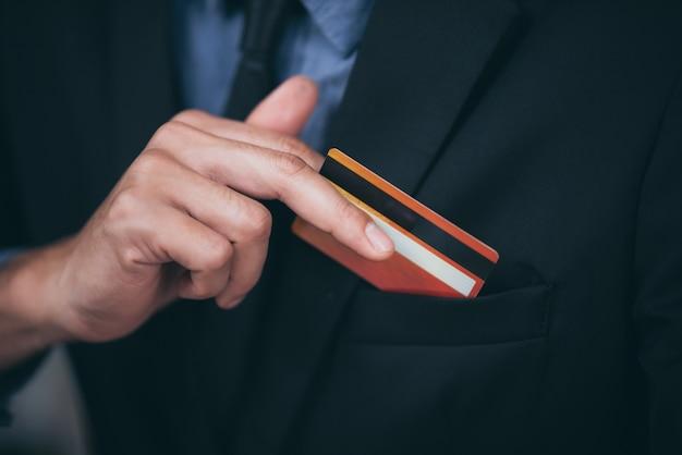 Konzept der kreditkarte für unternehmen