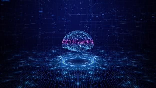 Konzept der künstlichen intelligenz gehirnplatine