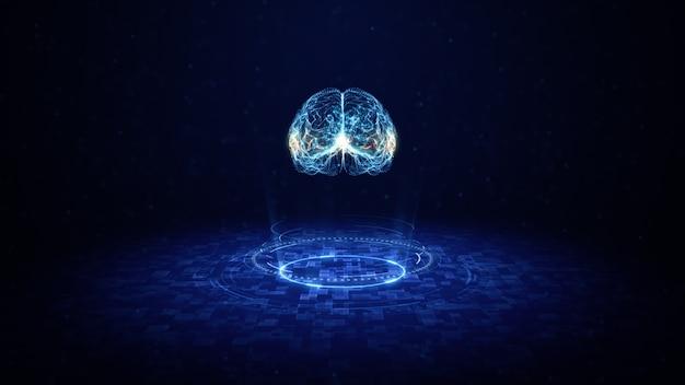 Konzept der künstlichen intelligenz gehirnplatine Premium Fotos