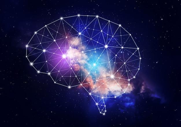 Konzept der menschlichen intelligenz.