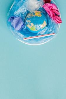 Konzept der reduzierung von plastiktüten
