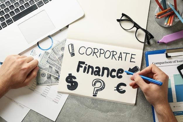 Konzept der unternehmensfinanzierung