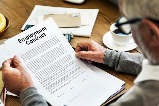 Konzept der vereinbarung über die bedingungen der arbeitsvertragspflicht