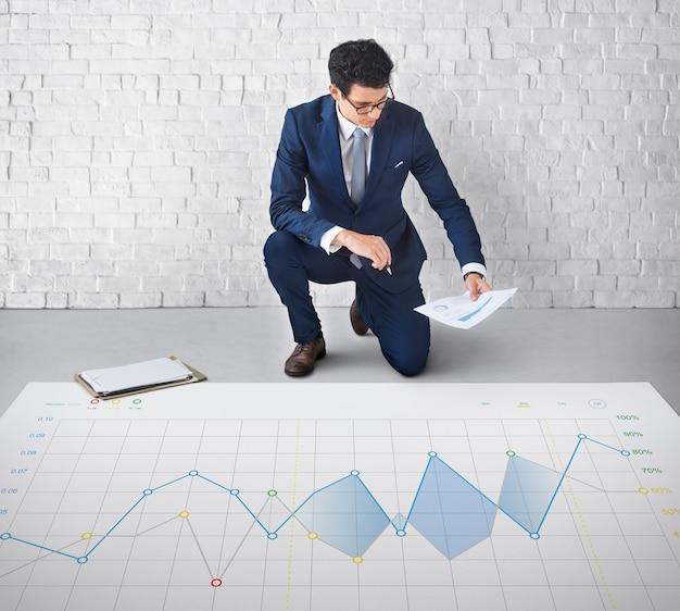 Konzept des berichtsanalyse-fortschrittsdiagramms