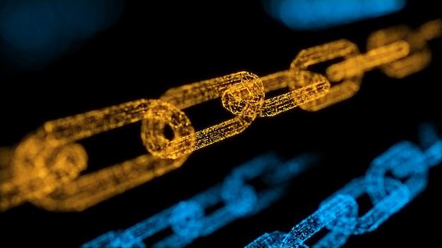 Konzept des blockchain-transaktionssicherheitssystems