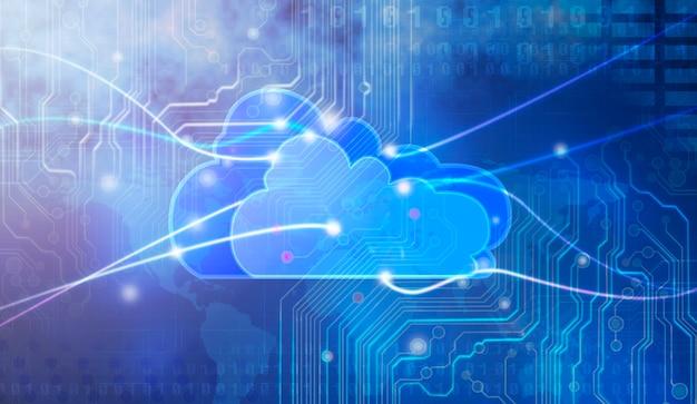 Konzept des cloud computing.