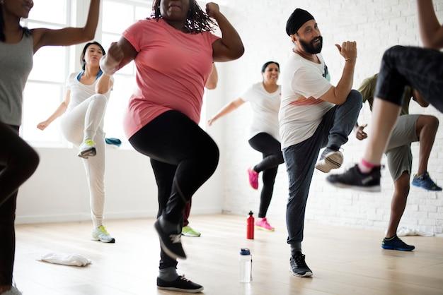 Konzept des fitnessstudios