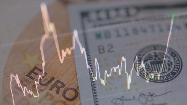 Konzept des geldhandels und des geldwechsels