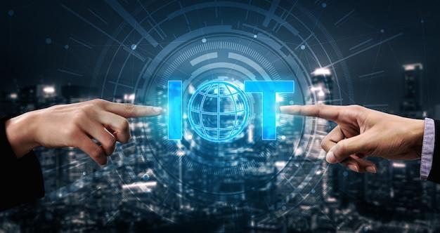 Konzept des internets der dinge und der kommunikationstechnologie